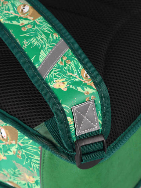Satchel For Kids 2 Compartments Cameleon Green retro RET-CA35 other view 2