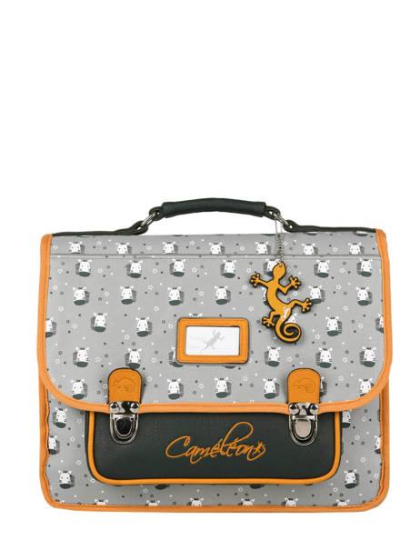 Satchel For Kids 2 Compartments Cameleon Gray retro RET-CA35