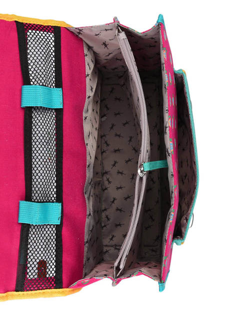 Satchel For Kids 2 Compartments Cameleon Pink retro RET-CA38 other view 6