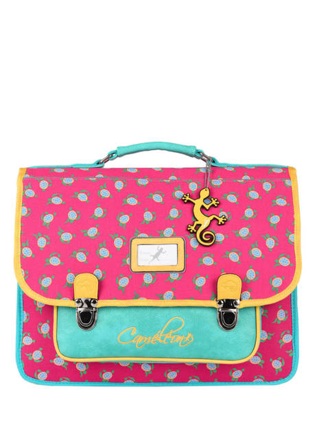 Satchel For Kids 2 Compartments Cameleon Pink retro RET-CA38