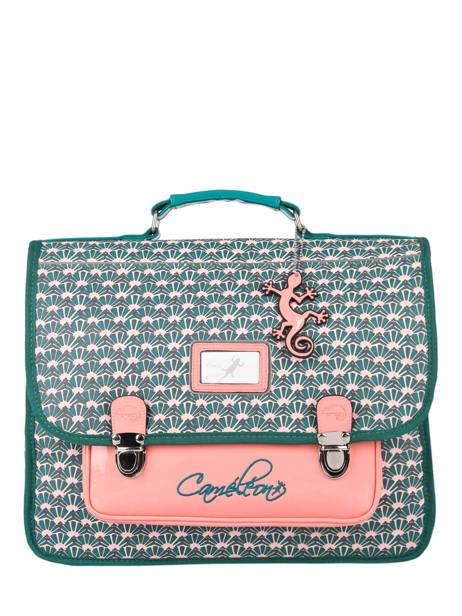 Cartable Enfant 2 Compartiments Cameleon Vert retro CA38