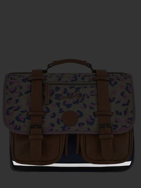 Satchel For Girl 2 Compartments Cameleon Multicolor vintage fantasy VIG-CA38 other view 7