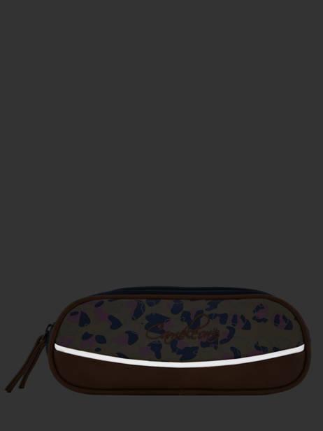 Pencil Case For Girls 2 Compartments Cameleon Multicolor vintage fantasy VIG-TROU other view 3