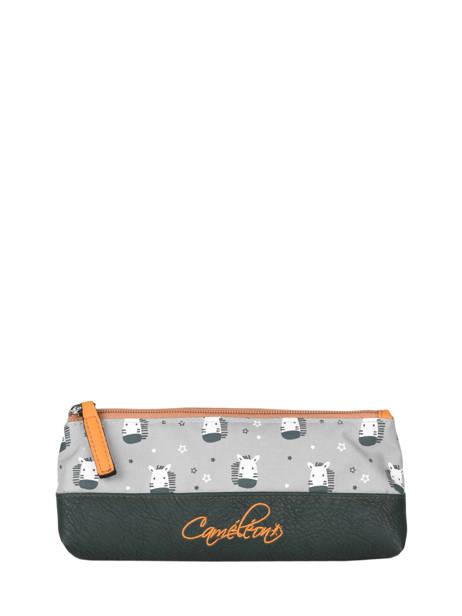 Pencil Case For Kids 1 Compartment Cameleon Gray retro RET-TROU