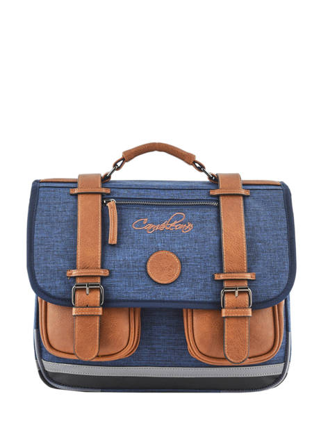 Satchel For Kids 2 Compartments Cameleon Blue vintage chine VIN-CA35