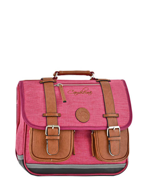 Satchel For Kids 2 Compartments Cameleon Pink vintage chine VIN-CA35