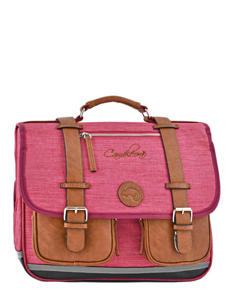 Boekentas Kind 2 Compartimenten Cameleon Roze vintage chine VIN-CA38