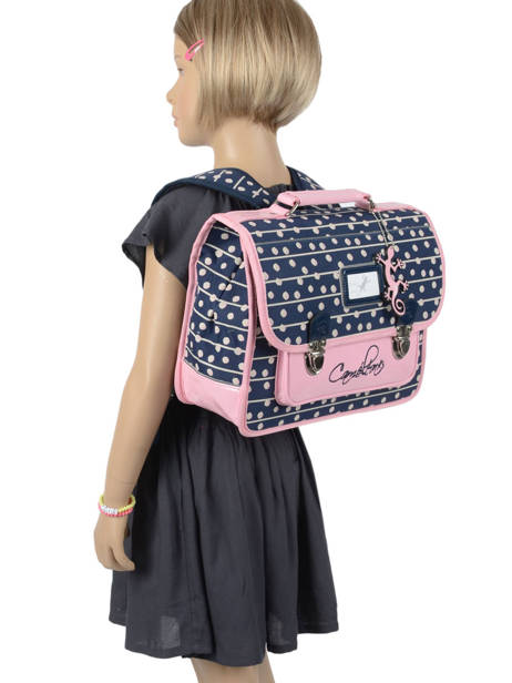 Satchel For Kids 1 Compartment Cameleon Blue retro RET-CA32 other view 3