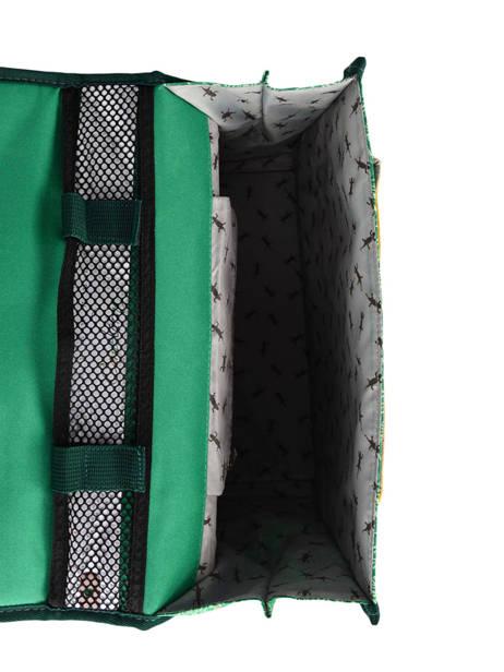 Boekentas Kind 1 Compartiment Cameleon Groen retro RET-CA32 ander zicht 5