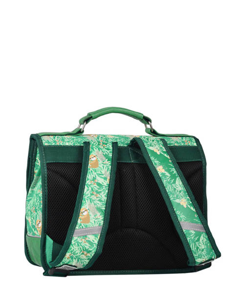 Satchel For Kids 1 Compartment Cameleon Green retro RET-CA32 other view 4
