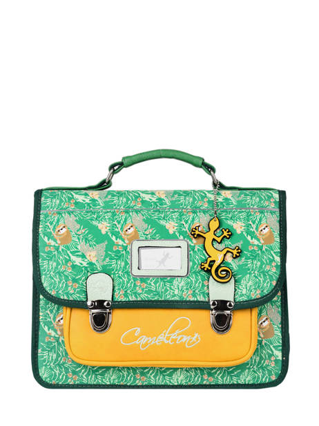 Satchel For Kids 1 Compartment Cameleon Green retro RET-CA32