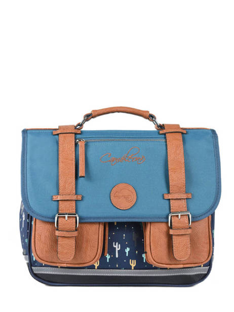 Satchel For Boys 2 Compartments Cameleon Blue vintage urban VIB-CA35