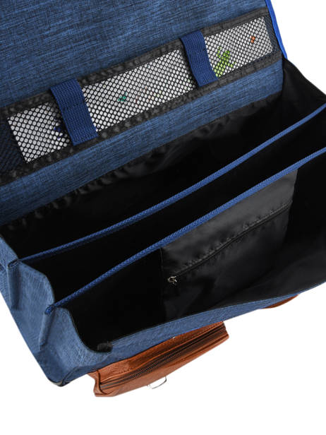 Satchel For Kids 3 Compartments Cameleon Blue vintage chine VIN-CA41 other view 6