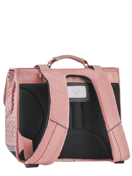 Satchel For Girls 2 Compartments Cameleon Pink vintage print girl VIG-CA35 other view 4
