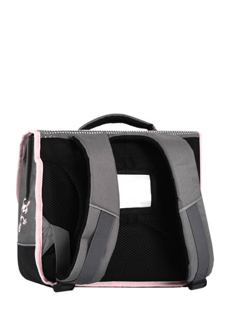 Satchel For Kids 2 Compartments Cameleon Gray basic BAS-CA38 other view 5