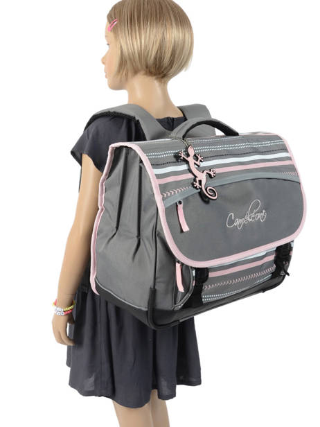 Satchel For Kids 3 Compartments Cameleon Gray basic BAS-CA41 other view 3
