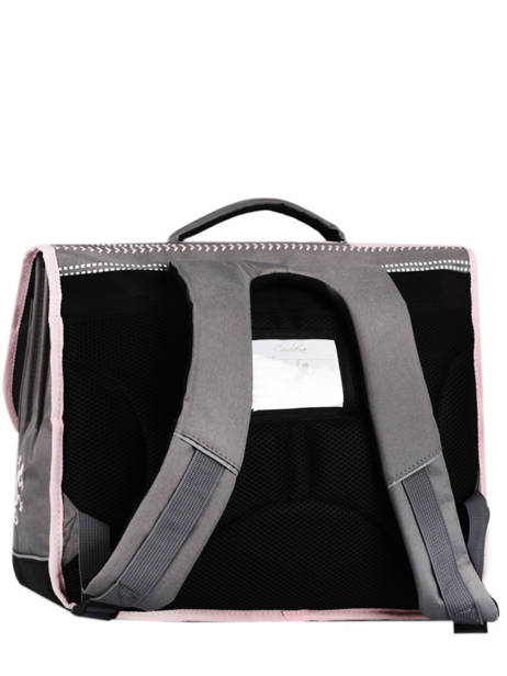 Satchel For Kids 3 Compartments Cameleon Gray basic BAS-CA41 other view 5