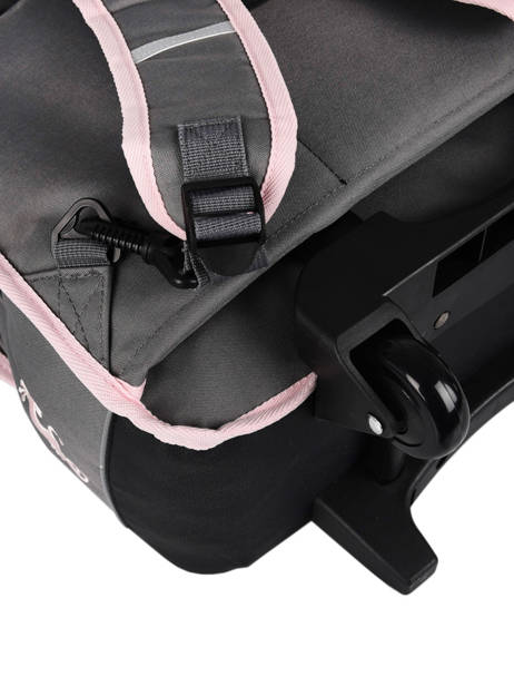 Cartable à Roulettes Enfant 2 Compartiments Cameleon Gris basic BAS-CR38 vue secondaire 1
