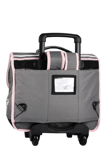 Cartable à Roulettes Enfant 2 Compartiments Cameleon Gris basic BAS-CR38 vue secondaire 3