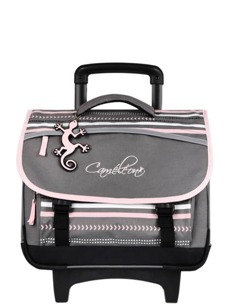 Cartable à Roulettes Enfant 2 Compartiments Cameleon Gris basic BAS-CR38