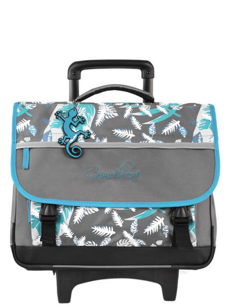 Wheeled Schoolbag For Kids 3 Compartments Cameleon Gray actual BAS-CR41