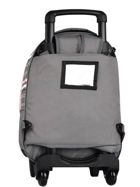 Wheeled Backpack For Kids 2 Compartments Cameleon Gray basic SR43 other view 5