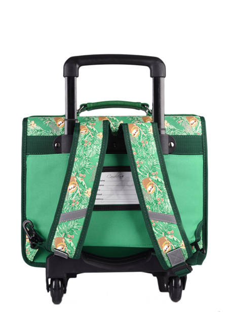 Wheeled Backpack Rétro Cameleon Green retro CR35 other view 4