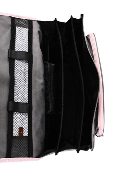 Satchel 3 Compartments Cameleon Gray actual PBBACA41 other view 5
