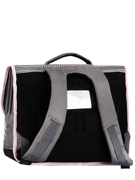 Satchel 3 Compartments Cameleon Gray actual PBBACA41 other view 4