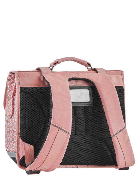 Wheeled Schoolbag For Girls 2 Compartments Cameleon Pink vintage fantasy PBVGCA35 other view 4