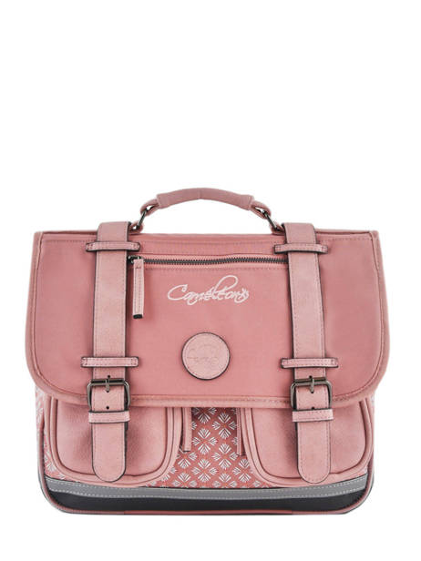 Wheeled Schoolbag For Girls 2 Compartments Cameleon Pink vintage fantasy PBVGCA35