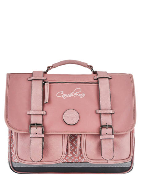 Wheeled Schoolbag For Girls 2 Compartments Cameleon Pink vintage fantasy PBVGCA38