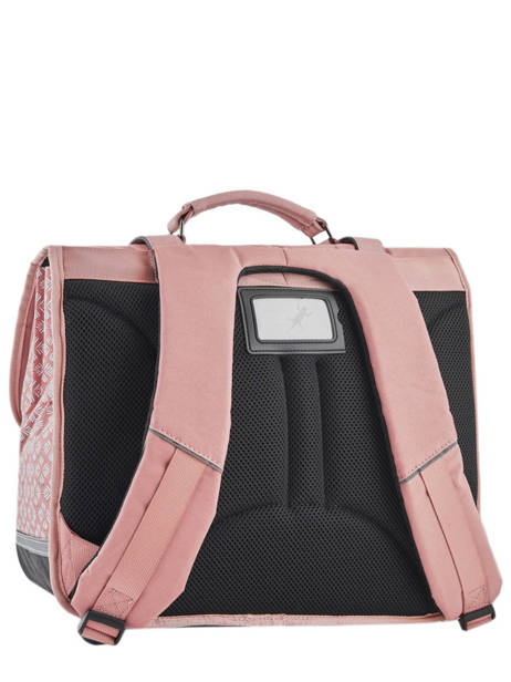 Wheeled Schoolbag For Girls 3 Compartments Cameleon Pink vintage fantasy PBVGCA41 other view 4