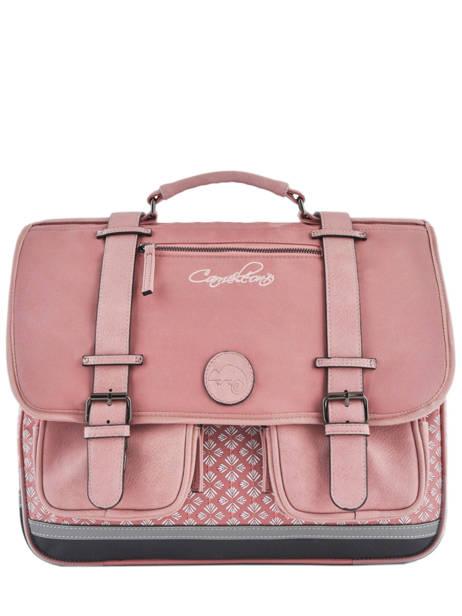 Wheeled Schoolbag For Girls 3 Compartments Cameleon Pink vintage fantasy PBVGCA41