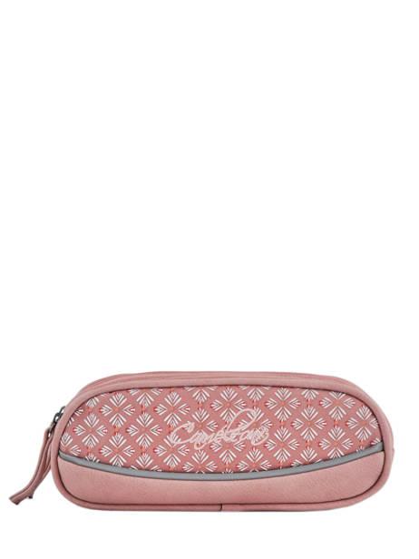 Pencil Case For Girls 2 Compartments Cameleon Pink vintage fantasy PBVGTROU