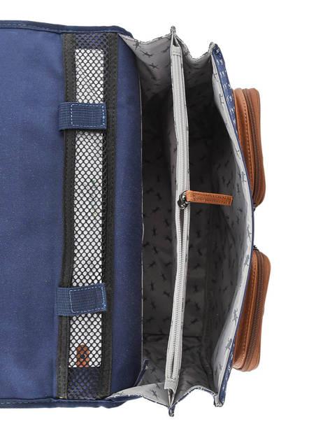 Satchel 2 Compartments Cameleon Blue vintage urban PBVBCA35 other view 5