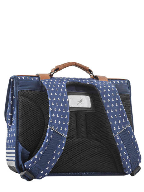 Satchel 2 Compartments Cameleon Blue vintage urban PBVBCA38 other view 3