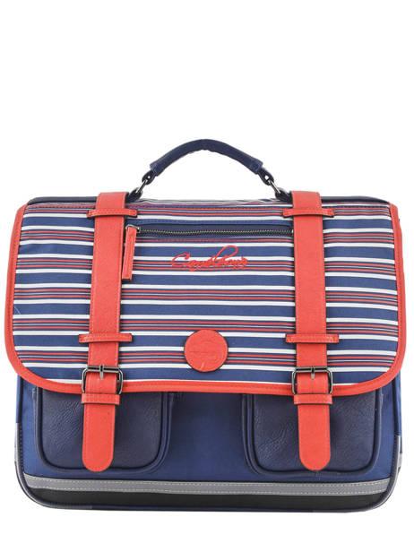 Satchel 3 Compartments Cameleon Blue vintage urban PBVBCA41