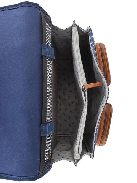 Wheeled Schoolbag 2 Compartments Cameleon Blue vintage urban PBVBCR38 other view 5