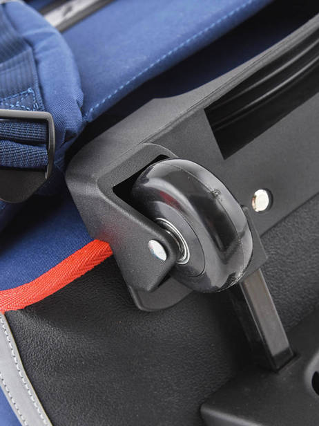 Wheeled Schoolbag 2 Compartments Cameleon Blue vintage urban PBVBCR38 other view 2