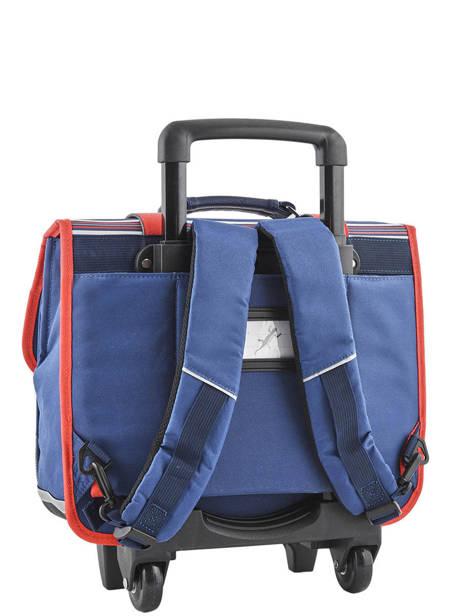 Wheeled Schoolbag 2 Compartments Cameleon Blue vintage urban PBVBCR38 other view 4