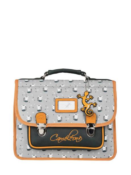 Cartable 1 Compartiment Cameleon Gris retro PBRECA32