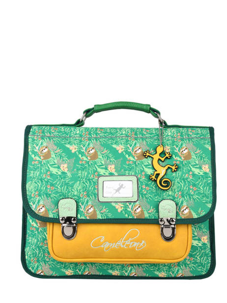Satchel 2 Compartments Cameleon Green retro PBRECA35