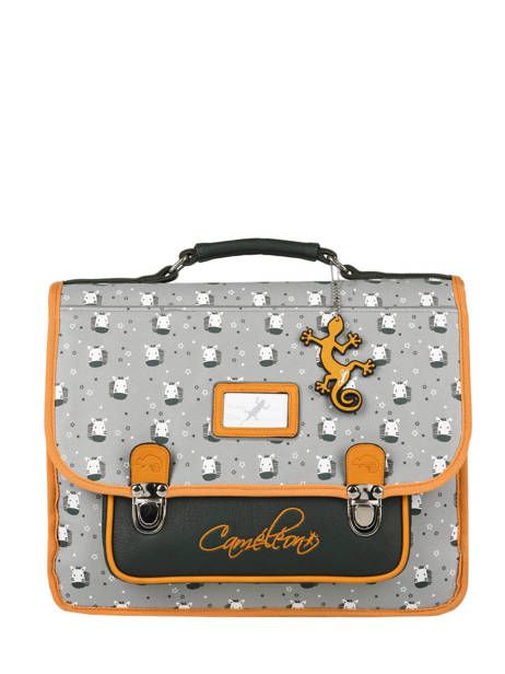 Satchel 2 Compartments Cameleon Gray retro PBRECA35