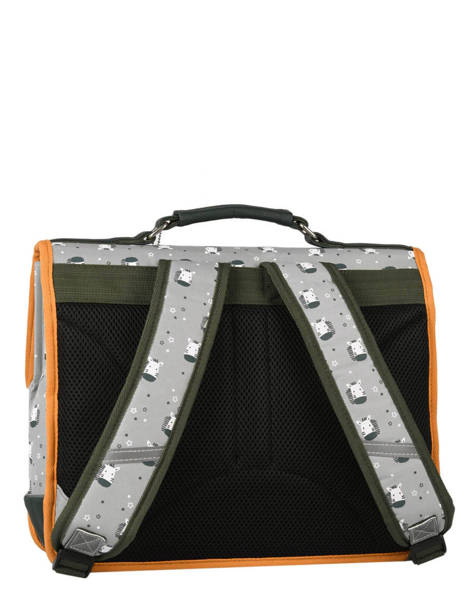 Backpack 2 Compartments Cameleon Gray retro PBRECA38 other view 4