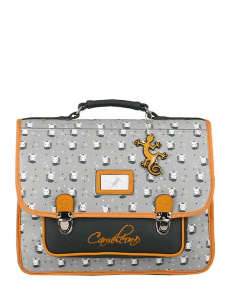 Backpack 2 Compartments Cameleon Gray retro PBRECA38