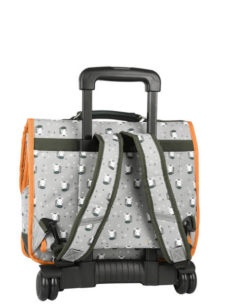 Cartable A Roulettes Cameleon Gray retro PBRECR35 other view 5