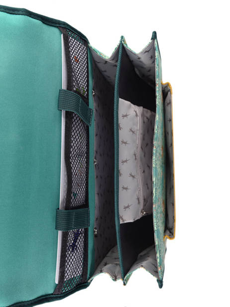 Cartable A Roulettes Cameleon Green retro PBRECR35 other view 5