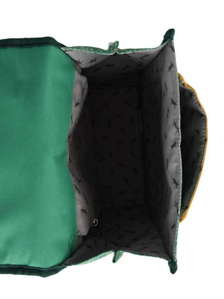 Sac à Dos 1 Compartiment Cameleon Vert retro PBRESD30 vue secondaire 5