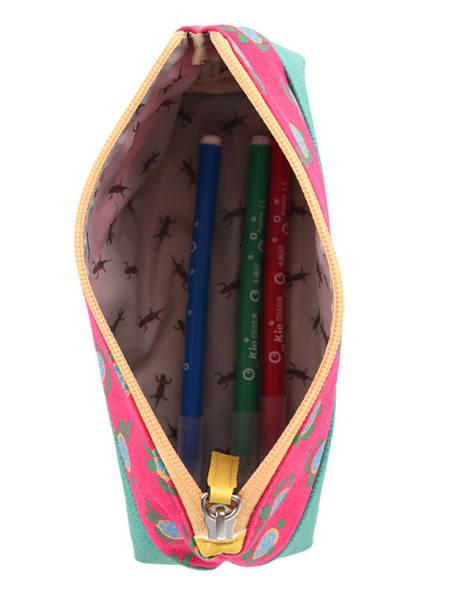 Pencil Case 1 Compartment Cameleon Green retro PBRETROU other view 1